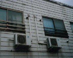 画像1: 室外機 設置工事【壁面吊り】