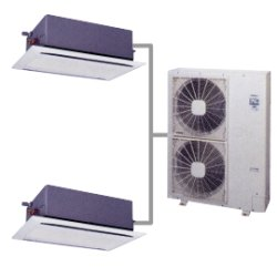 画像1: 日立 てんかせ2方向 140型(5.0馬力)HiインバーターIVX 「省エネの達人」冷暖同時(個別)ツインタイプ